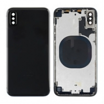 Replacement for iPhone X Rear Housing with Frame - Black / White