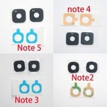 2pcs Back Rear Camera Glass Lens Cover Ring with Sticker for Galaxy Note 2 Note 3 Note 4 Note 5