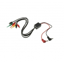 Universal Phone Maintenance Power Supply Test Lead Cable Kit (2 Alligator Clips 2 Banana Plugs 4 Hook Clips)