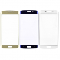 Front Outer Screen Glass Lens for Samsung Galaxy S6 EDGE - Pebble Blue /Gold /White /Green