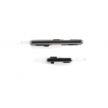 Black for Samsung Galaxy Note 2 N7105 LTE Volume Button Key + Power Button Key