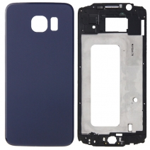 Cover Case Front Housing LCD Frame Bezel Plate + Battery Back Cover Replacement for Samsung Galaxy S6 G920
