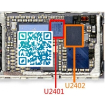 1 pair/lot (2pcs) Original new white+black touch digitizer screen ic chip for IPHONE 6 6+ 6plus U2401 + U2402