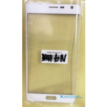 Front Outer Screen Glass Lens for Samsung Galaxy Note 4 Edge - Blue / White