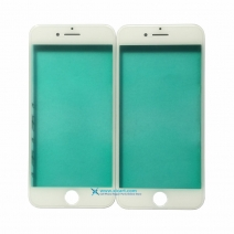 Cold Press Front Outer Screen Glass Lens with Frame Bezel For iPhone