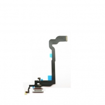 Dock Connector Charging Port Flex Cable Replacement for iPhone X - Black / White