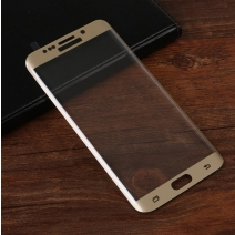 Full Coverage HD Tempered GLass 3D Arc Edge 0.2mm For Samsung Edge Screen (Silkprint / Fully Transparent)
