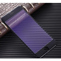 Full Coverage Anti-Purple Light Tempered GLass 3D Arc Edge 0.26mm For iPhone (Carbon Fiber Soft Edge)