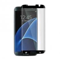 Non-Full Coverage Black Silkprint HD 0.2mm Tempered GLass Arc Edge For Samsung S7 Edge (Secondary Hardening /Full Glue /Anti-Fingerprints)
