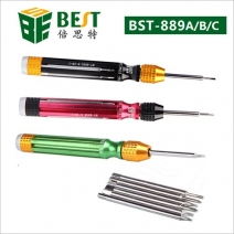 6 in 1 Muti-function Screwdriver Set for iPhone Samsung /BEST BST-889 A/B/C