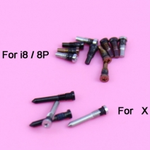 100pcs Back Cover Bottom Screw for iPhone 8 / 8 Plus / X Dock Connector Five 5 Point Star Pentalobe Screws Sets