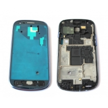 LCD Front Housing Frame Bezel Plate Middle Frame For Samsung Galaxy S3 Mini i8190/8200 - Silver/Blue/Black