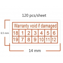 Warranty Void If Damaged Protection shredded paper Security Label Sticker Seal