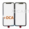 Cold Press 3in1 Front Outer Screen Glass Lens with Frame Bezel Assembly with pre-installed OCA For iPhone XR