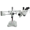 Double-Arm Boom Trinocular Stereo Zoom 7-45X 90X 180X Industrial Microscope with LED lights