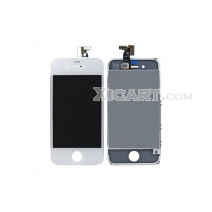 For iphone 4 Complete Screen Assembly with Bezel- white High quality