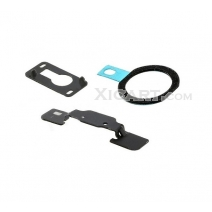 3 in 1 Repair Part Kit for iPad Air (Home Button Holder + Black Home Button Pad Ring + Front Camera Holder)