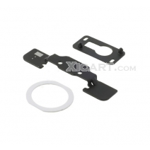 3 in 1 Repair Part Kit for iPad Air (Home Button Holder + White Home Button Pad Ring + Front Camera Holder)