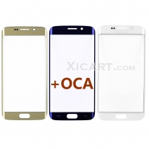 Front Outer Screen Glass Lens with pre-installed OCA for Samsung Galaxy S6 Edge