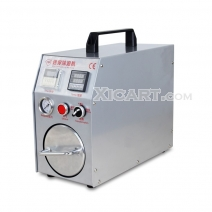 Mini air bubble remover machine, auto lcd bubble remover machine built-in air compressor