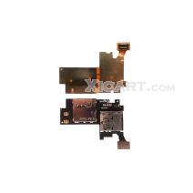 For Samsung I317 Galaxy Note 2 AT&T SIM Card Connector and Memory Card Holder Flex Cable