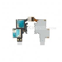 Sim Card Holder&Memory Card Holder for Samsung Galaxy Note II SCH-i605