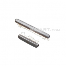 Silver Power Button + Volume Button Replacement Parts for Samsung Galaxy S3 S III SGH-T999