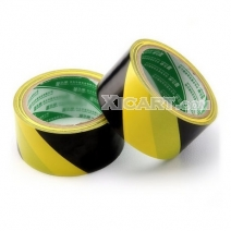 Yellow-Black PVC Warning Labels Stickers Floor Tape - 48mm*30m