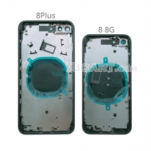 Back Cover for iPhone 8 8G Plus 8Plus Back Housing Battery Door Middle Frame Chassis with Side Buttons