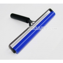 Blue Soft Silicone Roller Black Plastic Handle for Pushing Screen Protector Film