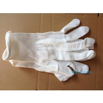 5 Pairs/lot White Knitted Cotton Gloves Work Gloves