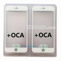 Front Outer Screen Glass Lens with Frame Bezel + OCA For iPhone