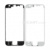 For iPhone SE / 5S Touch Screen Frame Bezel with hot melt glue - black / white