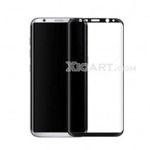 Full Coverage Black Silkprint HD Tempered GLass Arc Edge For Samsung