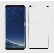 Non-Full Coverage Black Silkprint HD Tempered GLass Arc Edge For Samsung S8/S8+/S9/S9+/ Note8/Note9