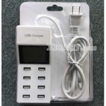 "Universal 5V 9.2A 8-Port USB Charger w/ 1.8"" LED Display (110~240V)"