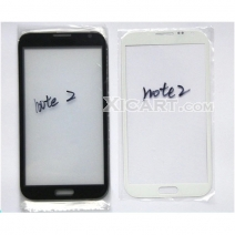 Front Outer Screen Glass Lens for Samsung Galaxy Note 2 N7100 - Black /White
