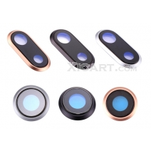 Rear Camera Lens Glass Cover Ring with Frame For iPhone 8 / 8 Plus